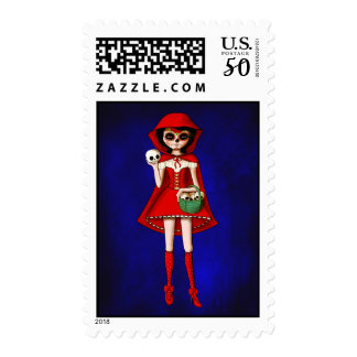 The Day of The Dead Red Riding Hood Postage