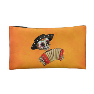 The Day of The Dead Skeleton El Mariachi Makeup Bag