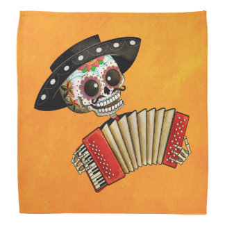 The Day of The Dead Skeleton El Mariachi Bandana