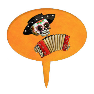 The Day of The Dead Skeleton El Mariachi Cake Topper