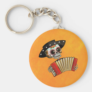 The Day of The Dead Skeleton El Mariachi Keychain