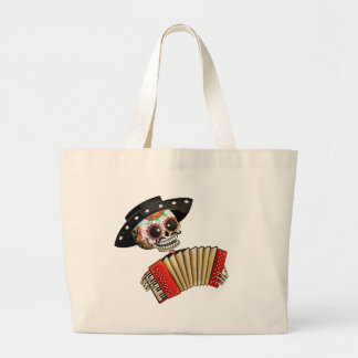 The Day of The Dead Skeleton El Mariachi Large Tote Bag