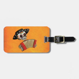 The Day of The Dead Skeleton El Mariachi Luggage Tag