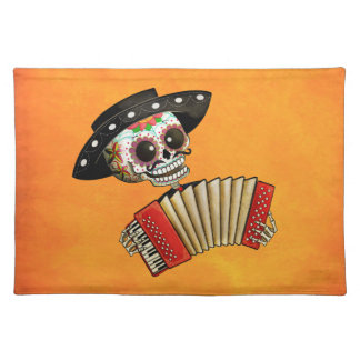 The Day of The Dead Skeleton El Mariachi Placemat