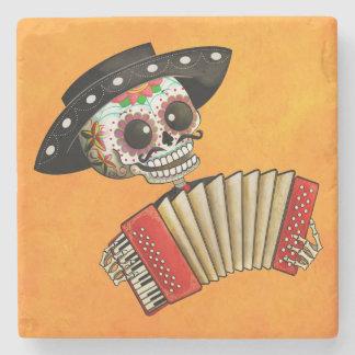 The Day of The Dead Skeleton El Mariachi Stone Coaster