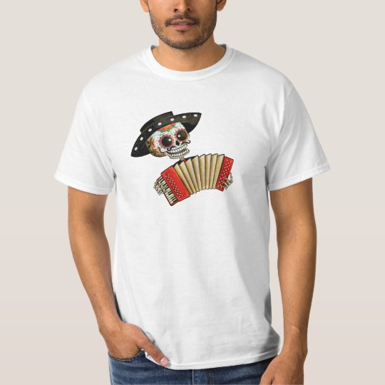The Day of The Dead Skeleton El Mariachi T-Shirt