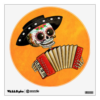 The Day of The Dead Skeleton El Mariachi Wall Graphic