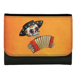The Day of The Dead Skeleton El Mariachi Women's Wallets