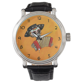 The Day of The Dead Skeleton El Mariachi Wrist Watch