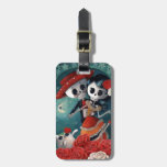The Day of The Dead Skeleton Lovers Bag Tags