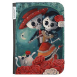 The Day of The Dead Skeleton Lovers Case For Kindle