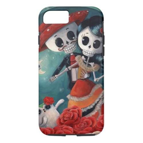 The Day of The Dead Skeleton Lovers Phone Case