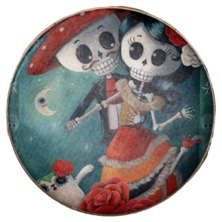 The Day of The Dead Skeleton Lovers Chocolate Dipped Oreo