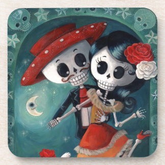 The Day of The Dead Skeleton Lovers Coaster