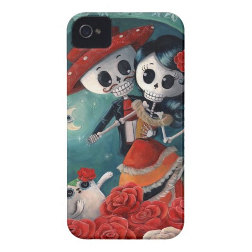 The Day of The Dead Skeleton Lovers iPhone 4 Covers