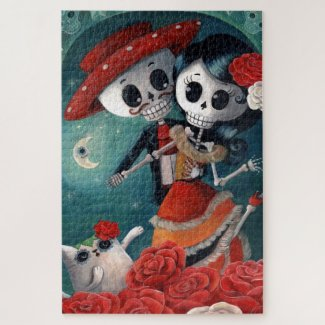 Day of The Dead Lovers Jigsaw Puzzle