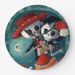 The Day of The Dead Skeleton Lovers Large Clock