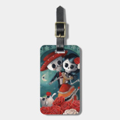 The Day Of The Dead Skeleton Lovers Luggage Tag at Zazzle