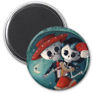 The Day of The Dead Skeleton Lovers Refrigerator Magnets