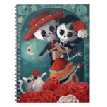 The Day of The Dead Skeleton Lovers Note Book