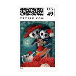 The Day of The Dead Skeleton Lovers Postage Stamps