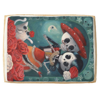 The Day of The Dead Skeleton Lovers Shortbread Cookie