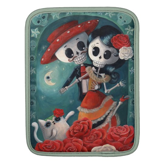 The Day of The Dead Skeleton Lovers Sleeve For iPads