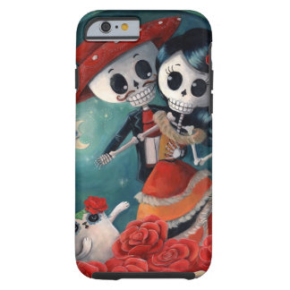 The Day of The Dead Skeleton Lovers Tough iPhone 6 Case