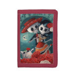 The Day of The Dead Skeleton Lovers Tri-fold Wallets