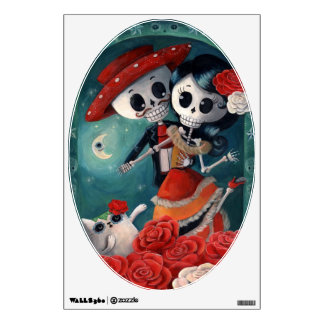 The Day of The Dead Skeleton Lovers Room Sticker
