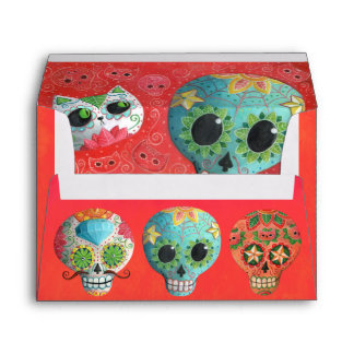 The Day of The Dead Sugar Skulls Envelope