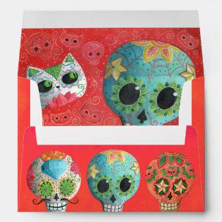 The Day of The Dead Sugar Skulls Envelope