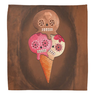 The Day of The Dead Sugar Skulls Ice Cream Bandana