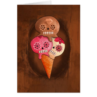 The Day of The Dead Sugar Skulls Ice Cream Card