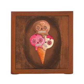 The Day of The Dead Sugar Skulls Ice Cream Pencil Holder