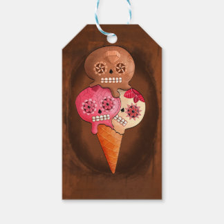 The Day of The Dead Sugar Skulls Ice Cream Gift Tags