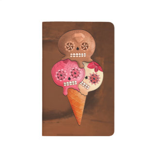 The Day of The Dead Sugar Skulls Ice Cream Journals