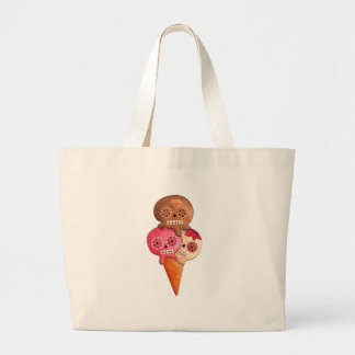 The Day of The Dead Sugar Skulls Ice Cream Large Tote Bag
