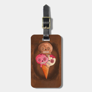 The Day of The Dead Sugar Skulls Ice Cream Luggage Tag