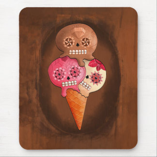 The Day of The Dead Sugar Skulls Ice Cream Mouse Pad