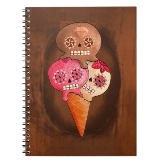 The Day of The Dead Sugar Skulls Ice Cream Spiral Note Book