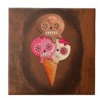 The Day of The Dead Sugar Skulls Ice Cream Small Square Tile