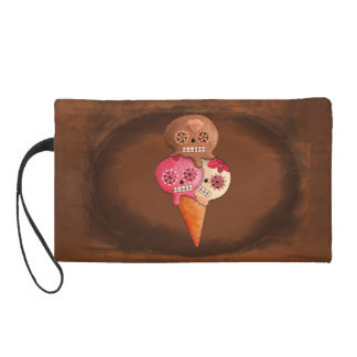 The Day of The Dead Sugar Skulls Ice Cream Wristlet