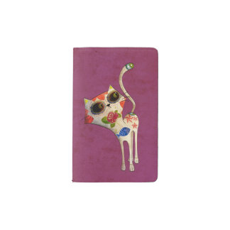 The Day of The Dead White Cute Cat Pocket Moleskine Notebook Cover With Notebook