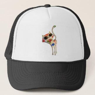 The Day of The Dead White Cute Cat Trucker Hat