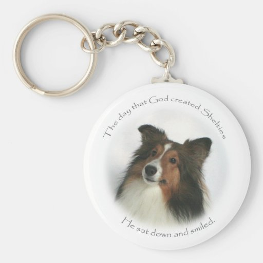 The Day Shelties Were Created Keychain