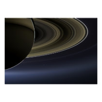 The Day the Earth Smiled | Cassini | Saturn Poster