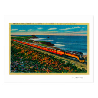 The Daylight Limited Train on California Postcard
