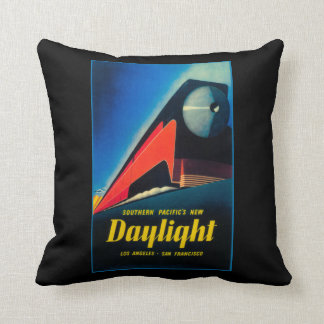 The Daylight Train Promotional Poster Throw Pillows