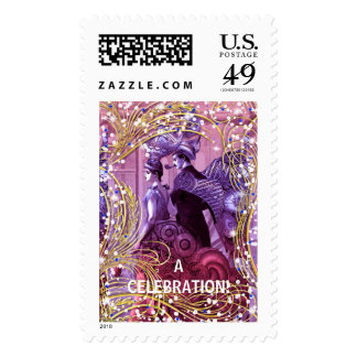 THE DAZZLING COUPLE POSTAGE STAMP